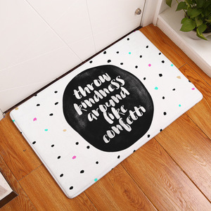 Image 3 - CAMMITEVER Cute Dots Letters Modern Circles Area Rug Kitchen and Bathroom Mat, Light Blue,Pink,White,Black,Coffee For Select