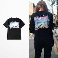Ulzzang South Korea Oversize 2017 Summer Funny T Shirt Men Fashion Design Harajuku Hip Hop Skateboard Vintage T-shirt Asia Size
