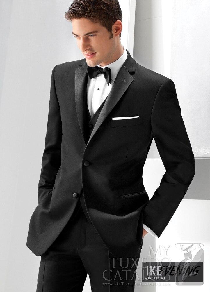Männer Anzügejacke Zwei Schwarzes Vest Button Schwarz TieK735 Smoking Groomsmen Modische Pants Blazer Bräutigam Prom rxWdoBCe