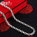 Beier new store 100% 925 silver sterling necklaces pendants trendy fine jewelry chains necklace for women/men  BR925XL004