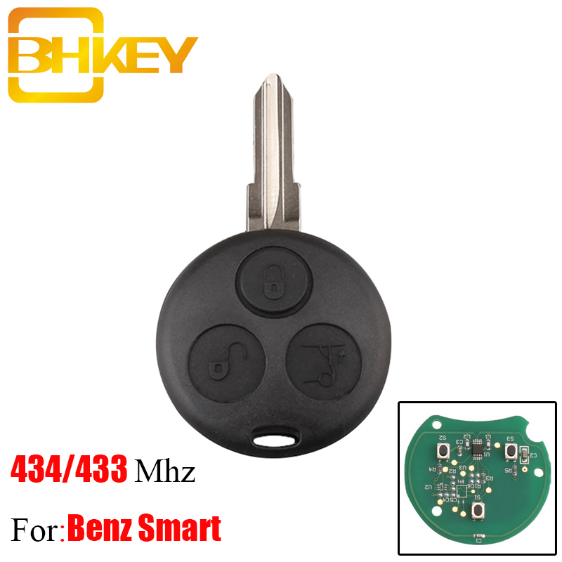 BHKEY 3Buttons 434MHz Remote Car <font><b>key</b></font> For Benz For Mercedes Benz <font><b>Key</b></font> <font><b>Smart</b></font> Fortwo <font><b>450</b></font> Forfour Roadster Chiave Auto <font><b>Key</b></font> image