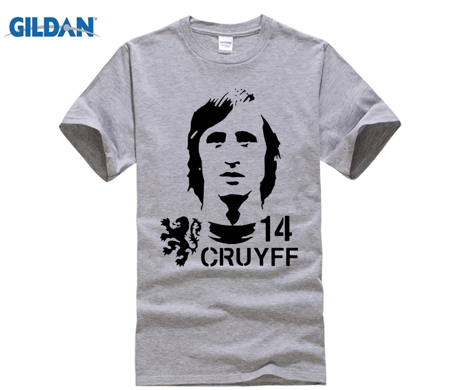 funny men t shirt Hendrik Johannes Cruyff Holland Nederland Ajax  The Godfather 100% cotton t shirt 1