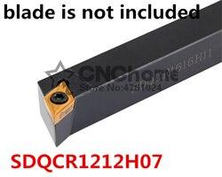 SDQCR1212H07/SDQCL1212H07 tokarka metalowa narzędzia do cięcia tokarka CNC toczenie narzędzia uchwyt na narzędzia tokarskie zewnętrzne typu S SDQCR