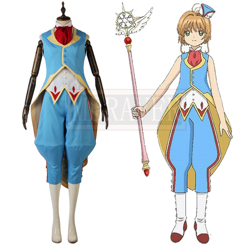 Anime Card Captor Clear Card 11 Cosplay Costume Combat Suit Fighting Cosplay Costume Custom Made Any Size