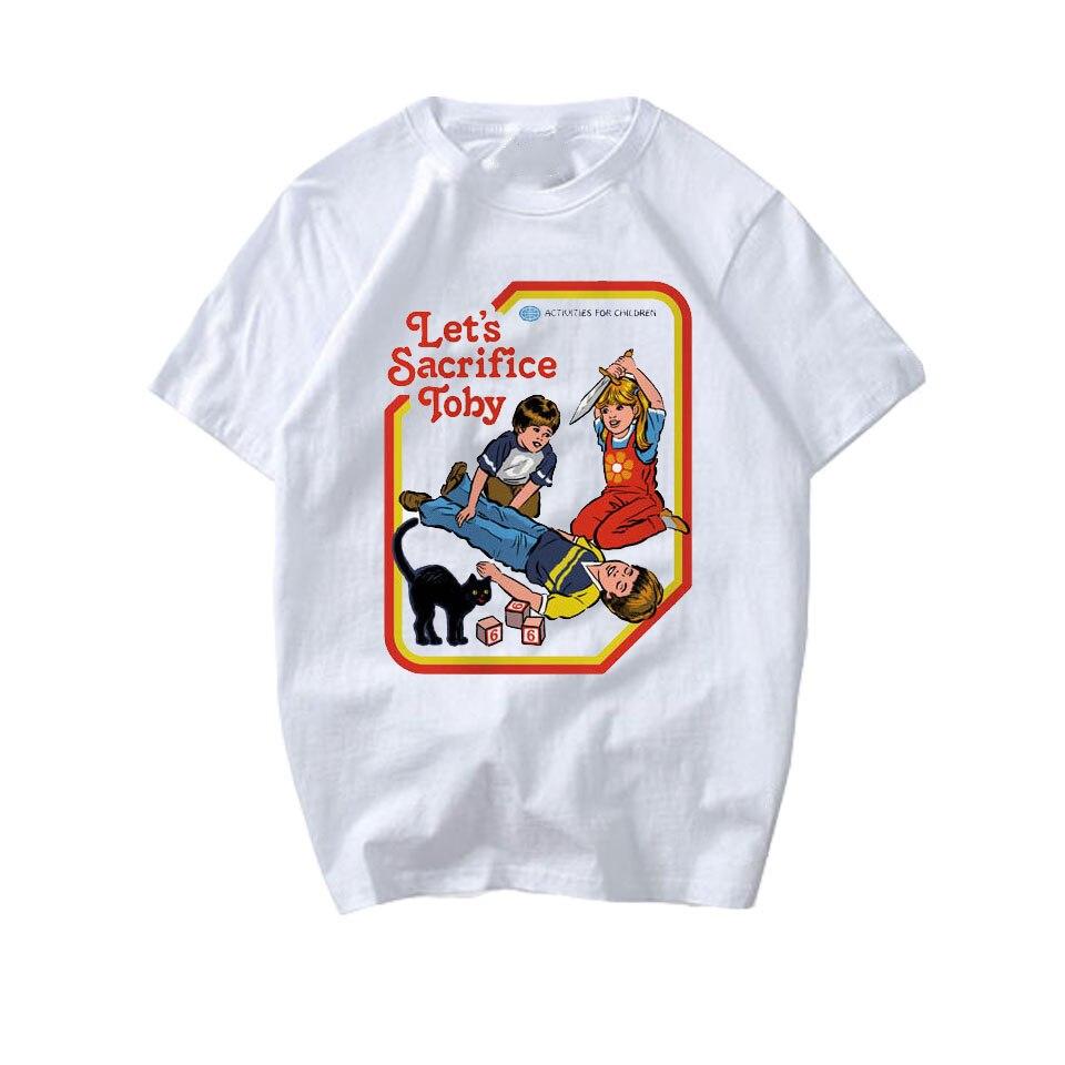 T camisa branca da moda do verão dos homens do ceifador do satanismo da morte do demônio de lettbao