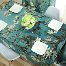 New Table cloth Rectangular Pastoral style Tropical Plants Printed Tablecloth Home Protection and decoration Elegant cover