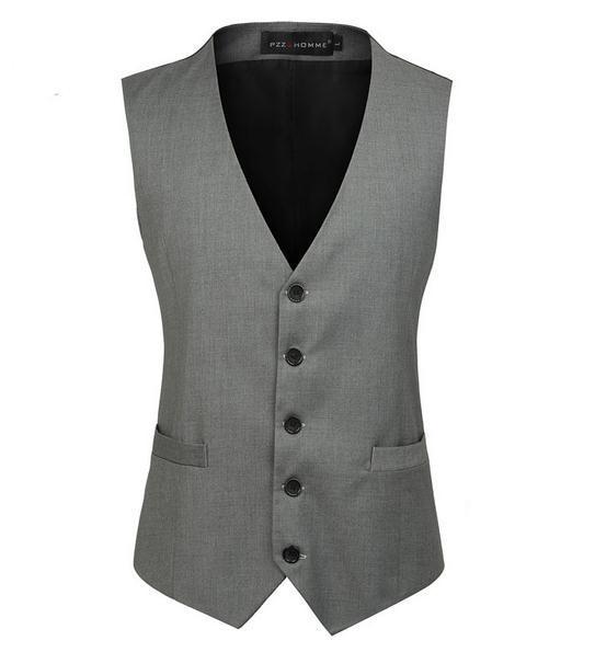 New Men's vest Slim Masculino Cotton Sleeveless Jacket Waistcoat Men Suit Vest Blazer vest size  S-XXXL