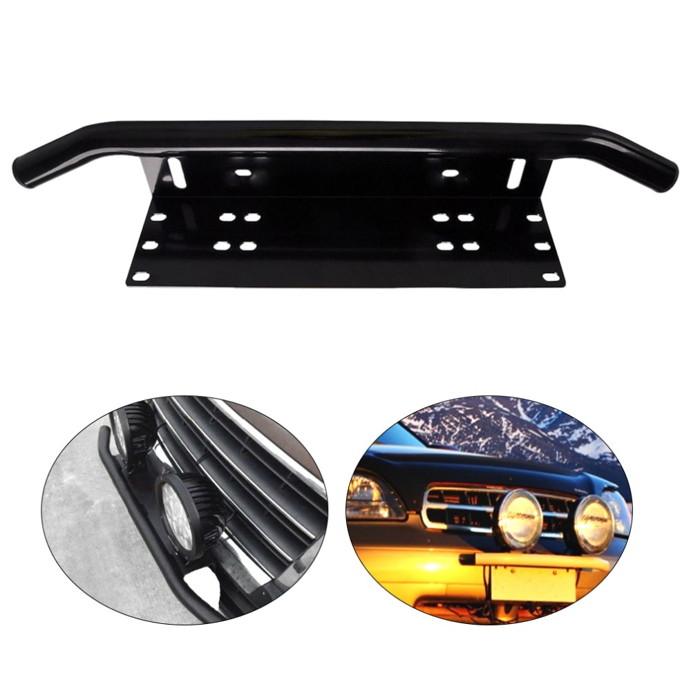 Easy Installation License Number Plate Frame Holder Light Bar Mount Front Bumper For Offroad Truck Vehicle Plate Bracket