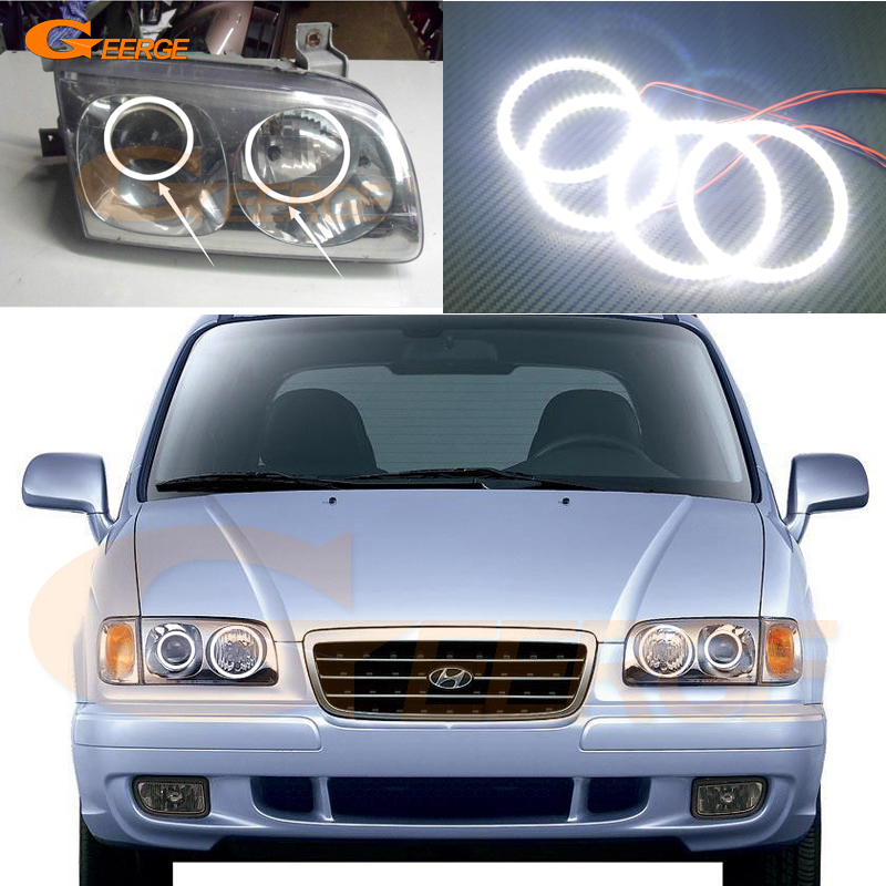 For Hyundai Trajet XG 1999-2008 Excellent led angel eyes Ultra bright illumination smd led Angel Eyes Halo Ring kit коврики в салон hyundai trajet 1999 2008 акпп 5 шт полиуретан