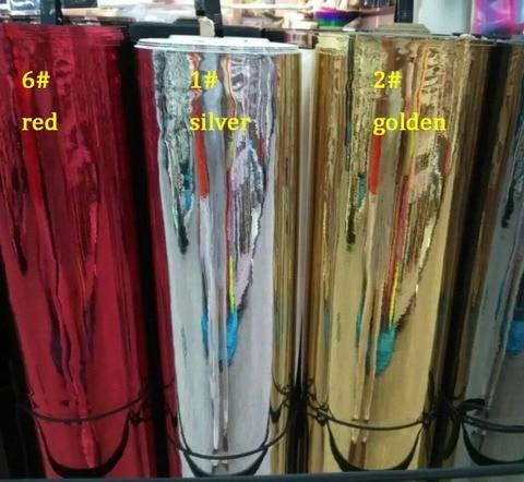 Material de Couro Macio do Espelho Tpu do Enrugamento pela Jarda Anti Venda Holográfico Sintético cm * 137 91