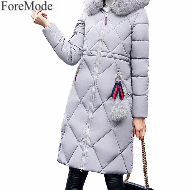 Korean Institute of Wind In The Long and Slim Hooded Fur Coat Cashmere Thickened Loose Cotton Winter Code 2017 winter new clothes to overcome the coat of women in the long reed rabbit hair fur fur coat fox raccoon fur collar