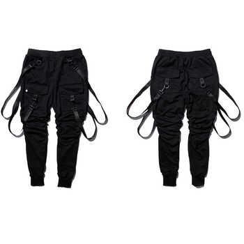 HEYGUYS jogger pants Black