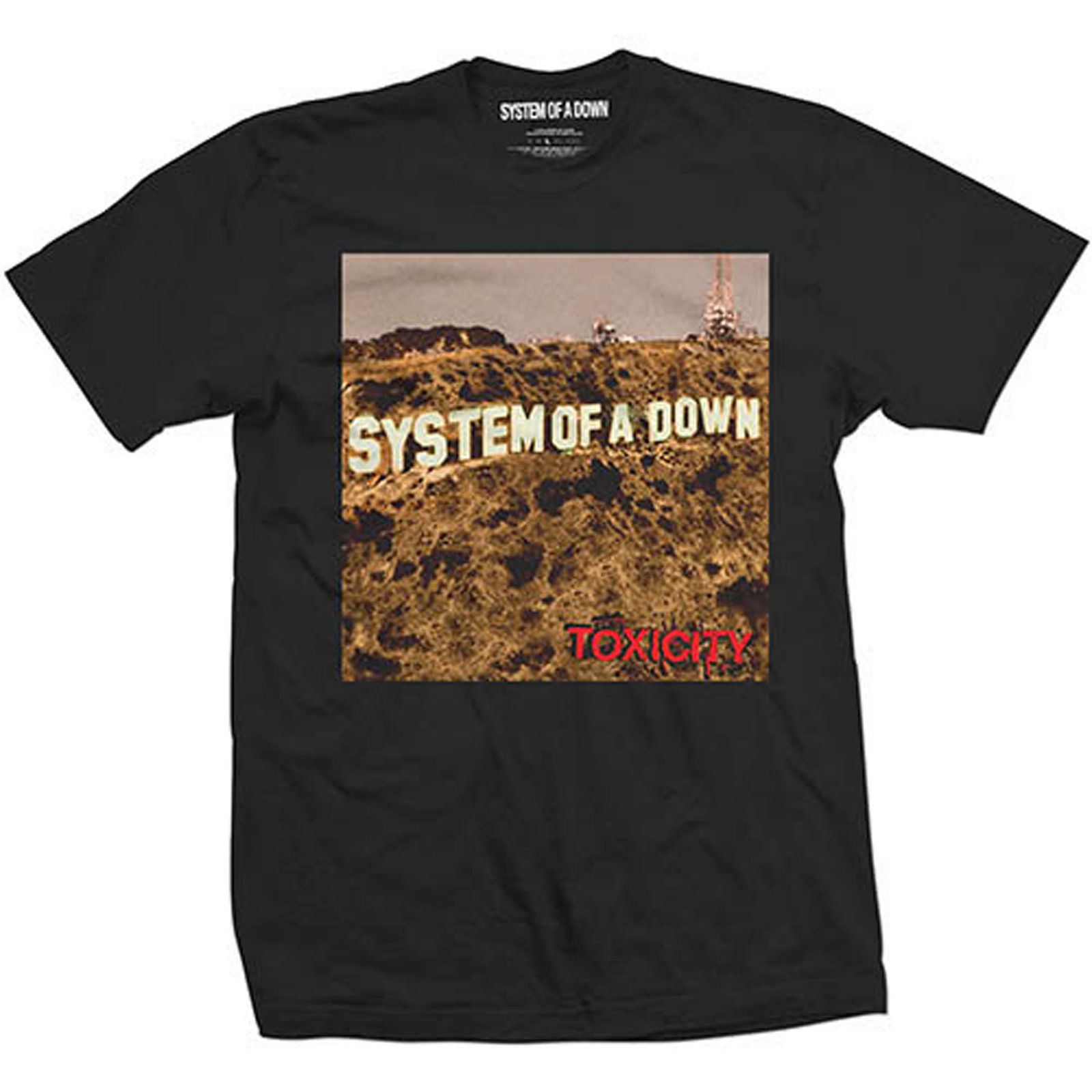 System of a Down Toxicity Heavy Metal Rock oficial Camiseta para hombre Summer New Print Man Cotton  Fashion