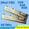 High Quliaty For Crucial DDR2 667MHZ FBD 2GB 4GB 8GB Server Memory PC2-5300 2Rx4 FB-DIMM RAM ECC Server memoria 4GB Wholesale