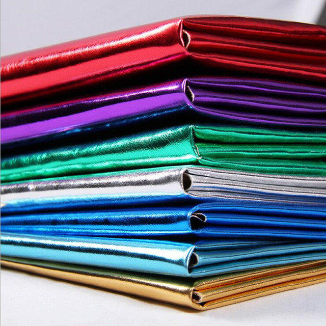 Faux Metal Gilding  Ransfer Coatiing Leather Fabrics PU Glitter Hairpin Decorative Clothes Artificial Leather Skin 96*140cm