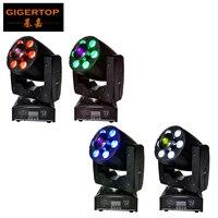 Freeshipping 4 XLOT Amerikaanse DJ Pocket Spot Wassen LED Mini Moving hoofd 95 Watt DMX Effect Lichten Zoom 1x30 W + 6x8 W Gobo Wassen TP-L6K1