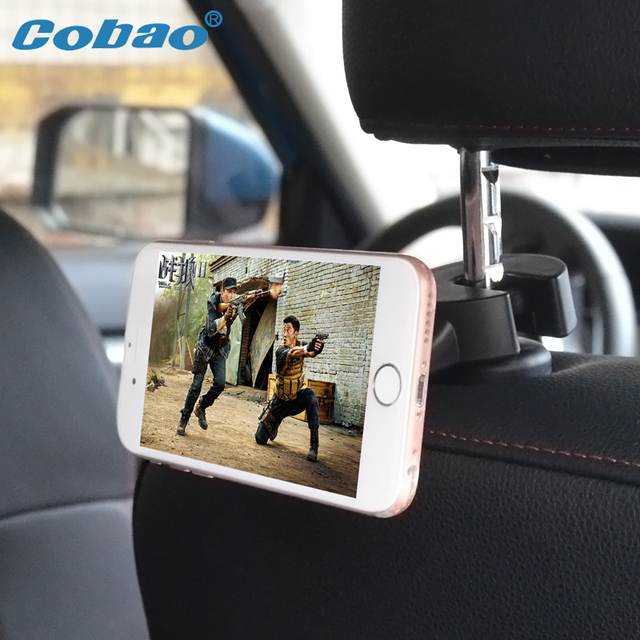 Cobao Back Seat Magnetic Car Phone Holder Universal 360 Degree Rotating Rear Magnet Cellphone