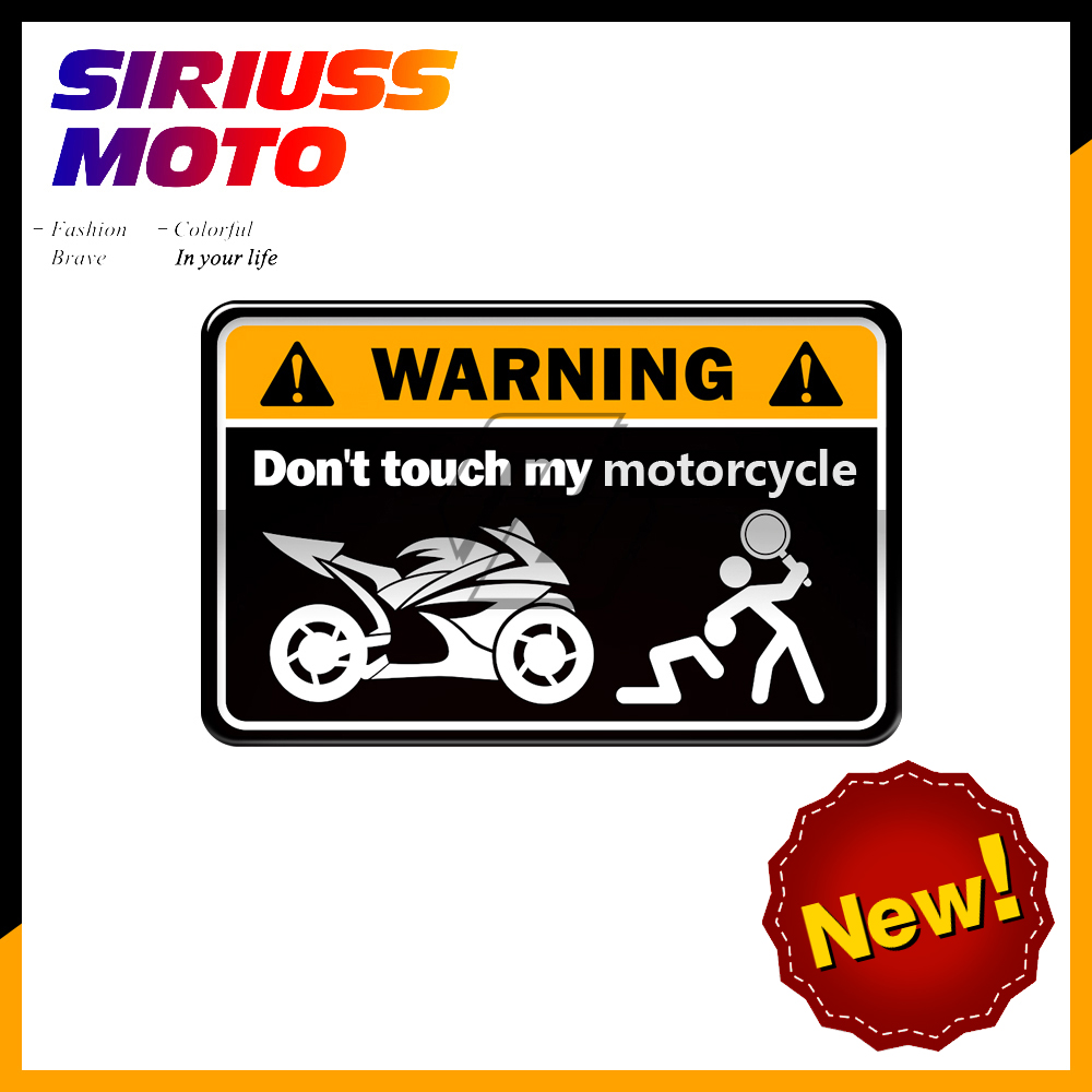 3D Warning Sticker Don't Touch My Motorbike Tank Decals Case For Kawasaki Yamaha Honda Suzuki KTM Ducati BMW Benelli Aprilia