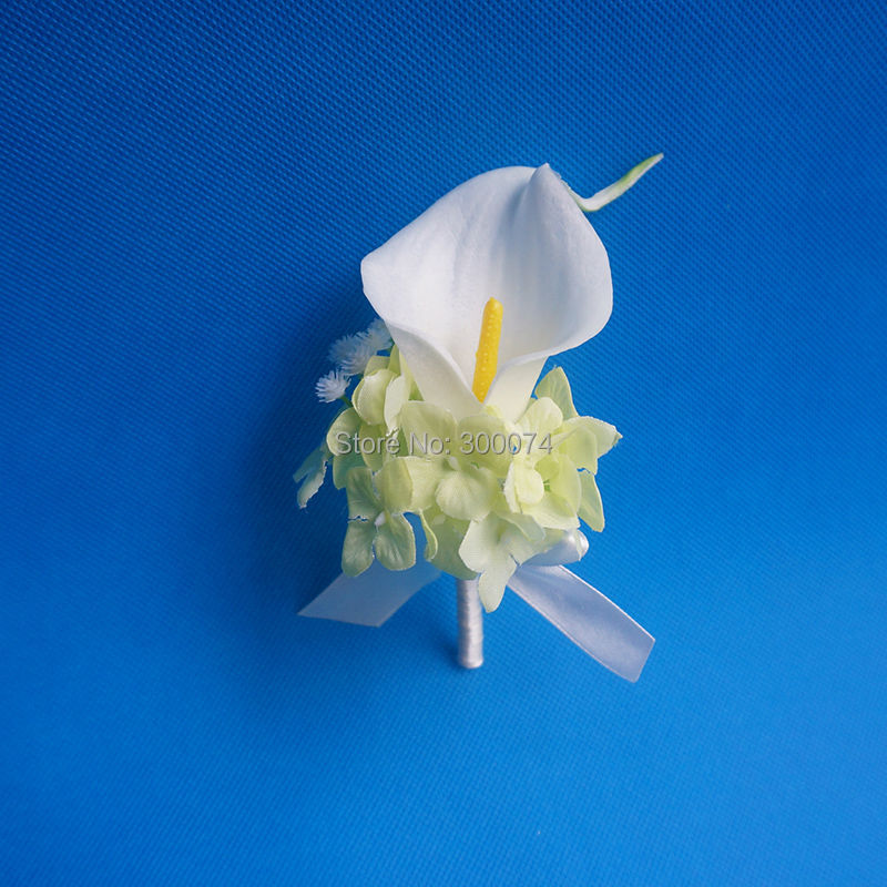 Boutonniere White Calla Lily Boutonniere White Calla Lily Real Touch Calla Lily Boutonniere Groomsman Boutonniere Grooms Boutonniere