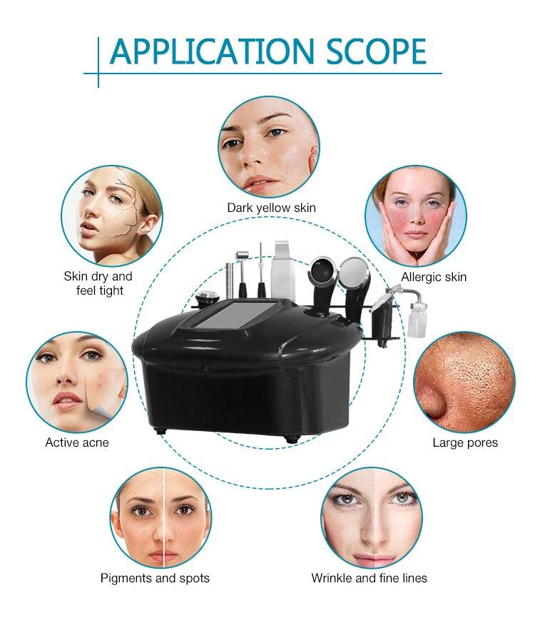 Newest Aquaskin Black Comprehensive Combine Skin Care Oxygen Machine