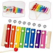 Музыкальный инструмент, игрушка с деревянной рамкой, ксилофон для детей, музыкальные забавные игрушки для детей, развивающие игрушки, подарки для детей, ксилофон
