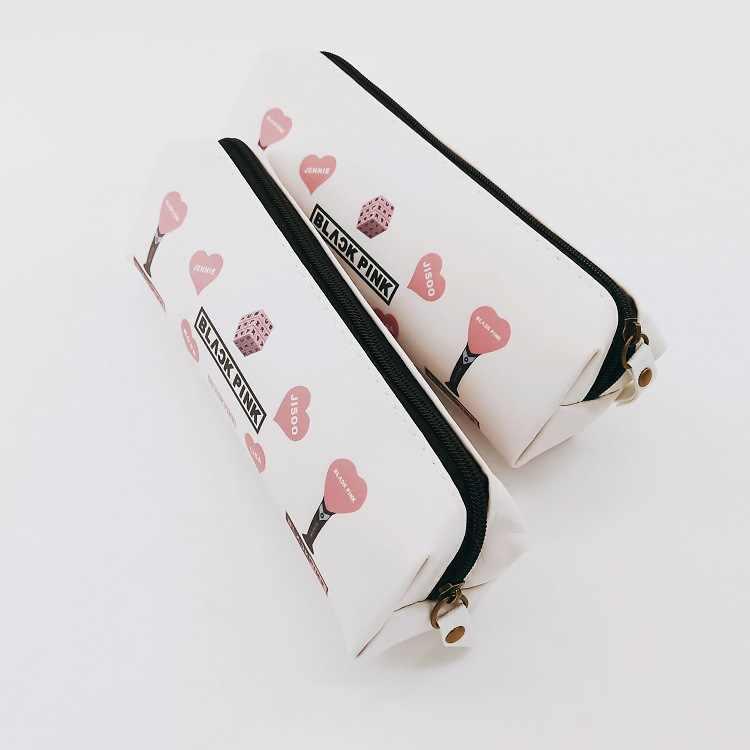 Kpop Blackpink Rose Jennie Jisoo Lisa Walletpencil bolsillo bolsa papelería caja nuevo álbum volver mismo estilo al por mayor