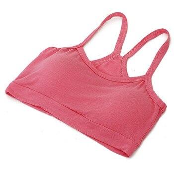 New Women Solid Strap Underwear Cotton Yoga Bra Vest Crop Top Running Gym Sports Bra 8 Colors 6
