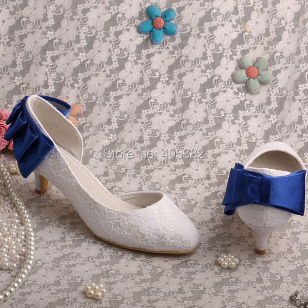 8099c9c154 Wedopus Some Blue White Lace Couture Bridal shoes 2 inch Heel Open Toe -in  Women's Pumps from Shoes on Aliexpress.com | Alibaba Group