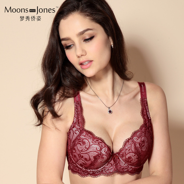 ea96d0fcd0f4f Women s Plus Size Push Up Bras Comfortable Lace Thin Cup Size C D Cup 34D  36D 38D 40D 42D 44D red black pink beige m676