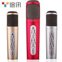 Gốc TUXUN Micro Không Dây Xách Tay Mini Home Karaoke Cầm Tay Bluetooth Player Cho Bỏ Cấm Evpad Vv Bluetooth TV box