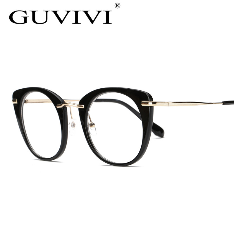 GUVIVI Luxury Eye glasses frames 2017 Top quality Gold Metal Flat ...
