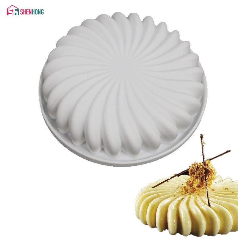 Shenhong изделий из силикона цветок Форма формы для выпечки для мусс шоколад бисквитов формы Кастрюли украшения торта Инструменты аксессуары