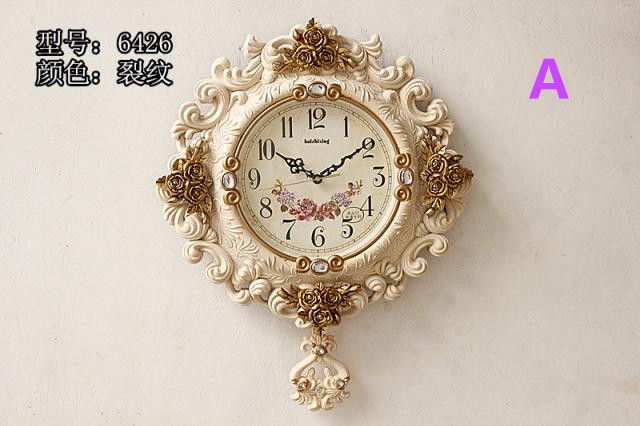 Quality luxury fashion watches and clocks wall clock extra large wall clock decoration rose decoration gold metal duvar saati