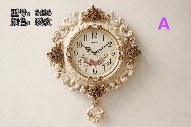 Qualität Luxus Mode Uhren Wanduhr Extra Große Wanduhr Dekoration Rose  Dekoration
