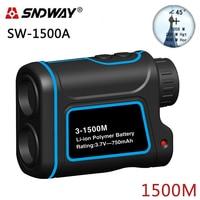 SNDWAY Laser Rangefinder Hunting Monocular Telescope 1500M Golf Trena Laser Meter Distance Measure Speed Height Angle