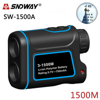 SNDWAY Laser Rangefinder Hunting Monocular Telescope 1500M Golf Trena Laser Meter Distance Measure Speed Height Angle