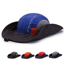 High Quality Wide-brim Adjustable Sun Hat Male Female Outdoor Moutaineering Sunshade Visors Beach Fishman Fishing