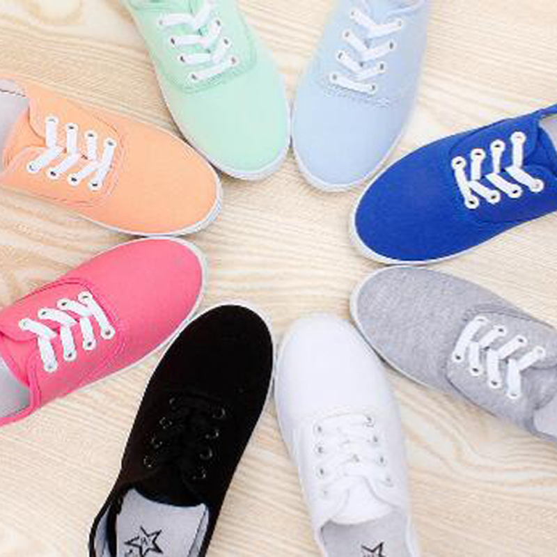CITYCROSS plain women sneakers 2018 simple design flats lace up canvas shoes for girl's and women все цены