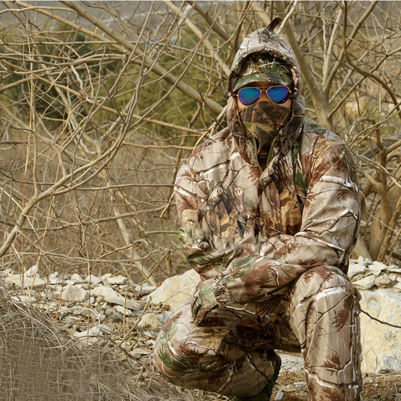 Free shipping hunting clothing + pants jungie tactical bionic camouflage fishing bird watching hunting Set water proof Scratch free shipping hunting clothing pants jungie tactical bionic camouflage fishing bird watching hunting set water proof scratch