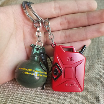 Game PUBG Keychain AWM 98K Pan ALL Rifle Model Cosplay Props Alloy Armor Key Chain 4