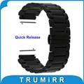 """Banda de 18mm de liberación rápida para huawei watch asus zenwatch 2 (1.45 """"/45mm) mujeres de la correa de acero inoxidable 2015 butterfly pulsera hebilla"""