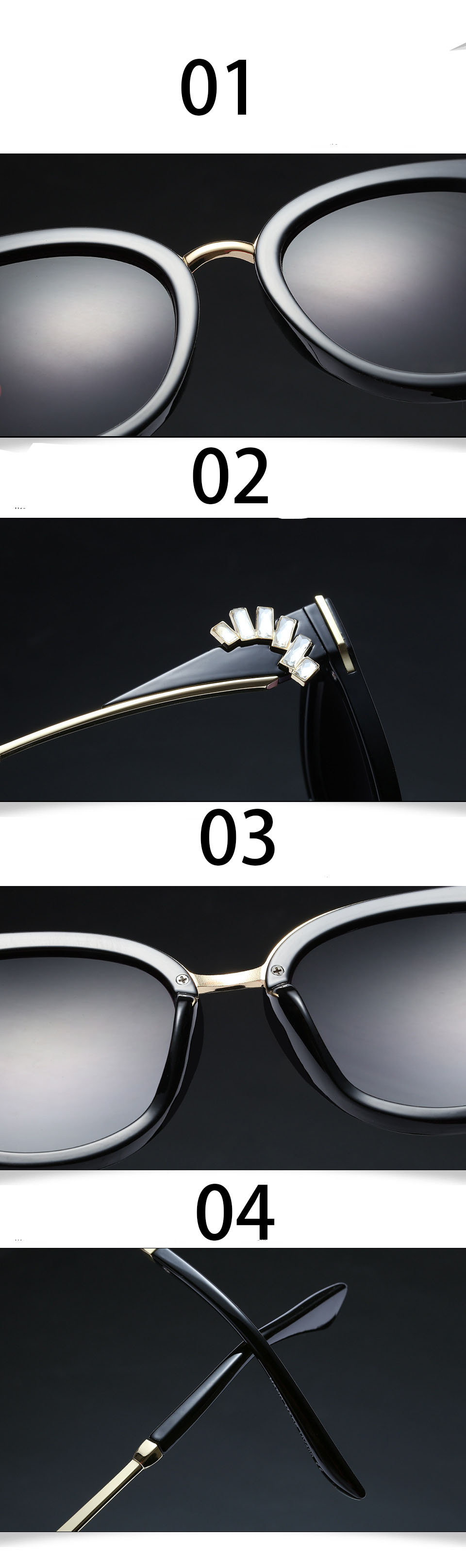 HTB1jzEdXPihSKJjy0Ffq6zGzFXan - Oversized Crystal Acetate Black Cat Eye Sunglasses 2018