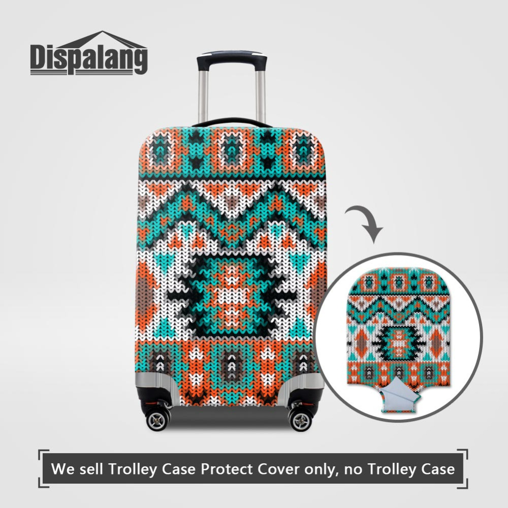 Dispalang Travel Luggage Protective Covers Apply To 18~30Inch Suitcase Dust Cover Weave Print Elasticity Stretch Case Dust Cover