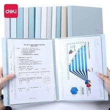 File-Folder Storage-Bag Transparent Loose-Leaf Document A4 Book Small Deli Cute 1PCS