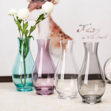 цена на Modern multicolor glass vase Hydroponics flower containers Hand blown small vases home wedding decoration Small Flowerpot