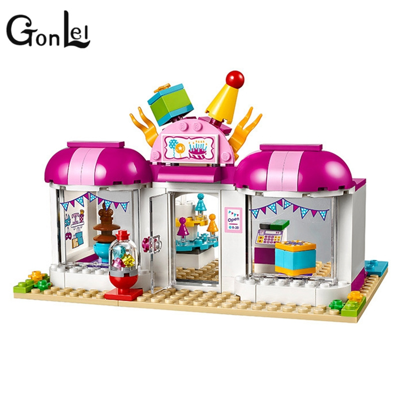 GonLeI Girl Friends Stephanie laurie Heart Lake City Party Gift Shop Building Blocks Best Toys for children 41132