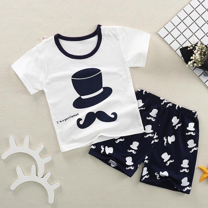 Лето 2018 для новорожденных мальчиков и девочек комплект одежды для маленьких мальчиков одежда из хлопка Детский костюм (рубашка + брюки) В Кл...