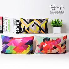 Симфония Геометрия подушка, геометрическая цвет подушка Подушка хлопок Наволочка офиса украшение дома диванную подушку