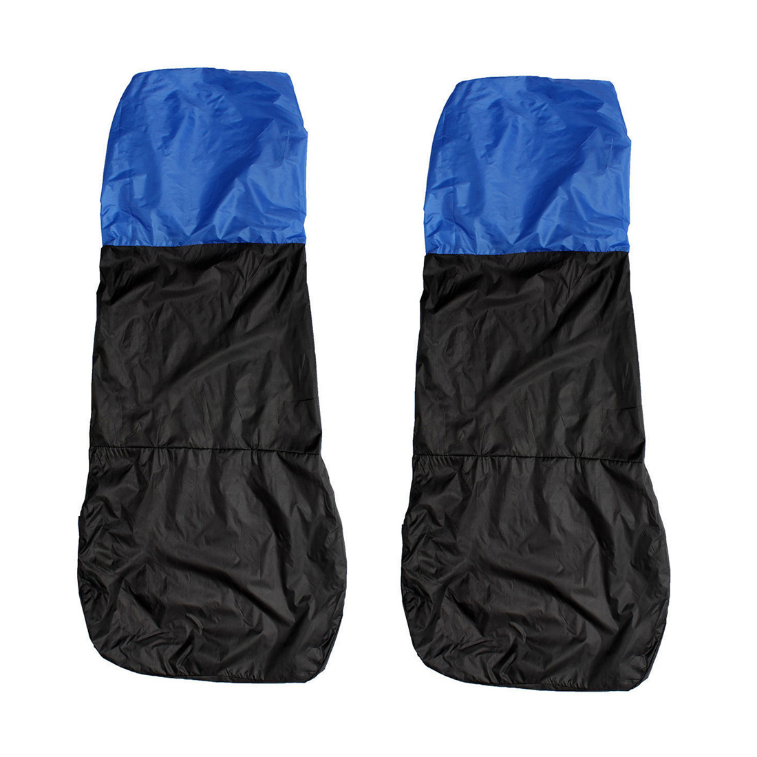 Promotion! 2 Universal CAR/VAN WATERPROOF Nylon BLUE / BLACK FRONT SEAT COVERS / PROTECTORS