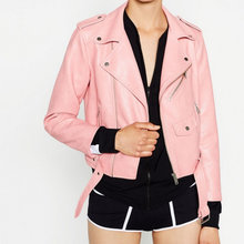 2016 New Hot Autumn Winter Women Faux Soft Leather Jackets Long Sleeve Motorcycle Coat Drop Shipping
